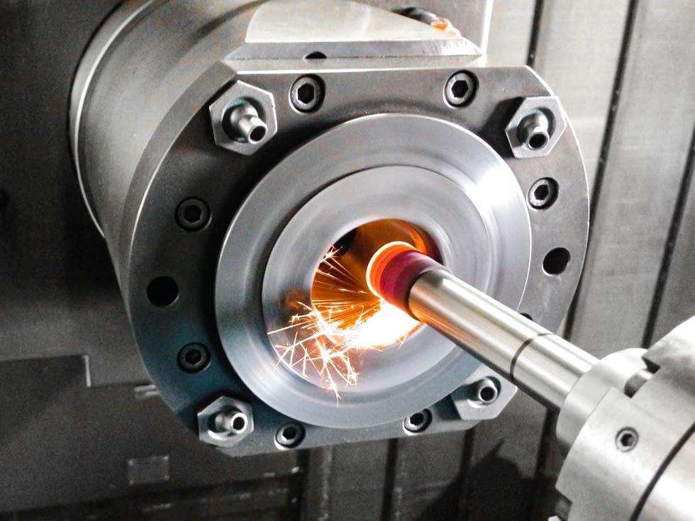 Rettifica cono mandrino ISO 40 in macchina